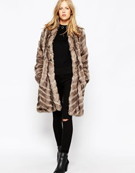 Urbancode Long Faux Fur Jacket In Urban Fox Urbanfox