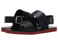 Marni Solid Leather Sandal Blue