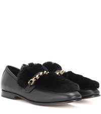 Boyy Loafur Leather And Fur Loafer Black