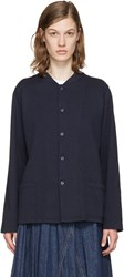 Chimala Navy Snap Top Jacket