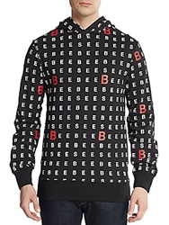 Billionaire Boys Club Chart Letter Graphic Hooded Pullover Black