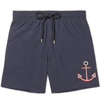 Vilebrequin Otu Id Length Ebroidered Swi Shorts Navy