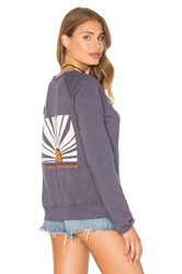 Gypsy 05 Unfinished Edge Boat Neck Sweatshirt Slate
