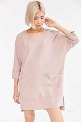 Silence And Noise Kaden Woven Cocoon Mini Dress Rose