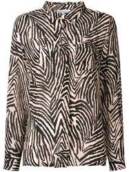 Lily And Lionel Zebra Print Shirt Nude And Neutrals