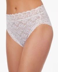 Vanity Fair Body Caress Ultimate Comfort High Cut Brief 13280 All Over Lace Star White