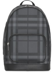 Burberry London Check And Leather Backpack Black