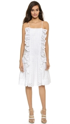 Just Cavalli Eyelet Ruffle Dress White