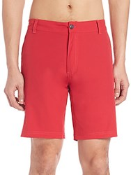 Saks Fifth Avenue Modern Hybrid Swim Trunks Coral
