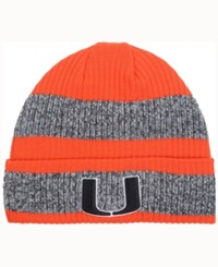 Adidas Miami Hurricanes Player Watch Knit Hat Orange