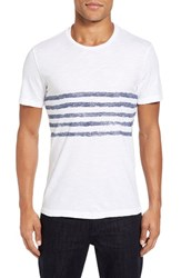 Velvet By Graham And Spencer Men's Peter Stripe Print T Shirt