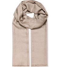 Loewe Anagram Jacquard Scarf Light Grey