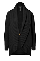 Ralph Lauren Black Label Wool Cashmere Shawl Collar Cardigan