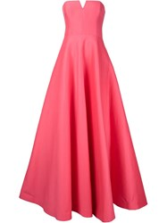 Halston Heritage Sweetheart Neck Gown Pink And Purple