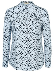 Planet Spot Print Blouse Multi Blue