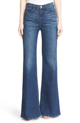 Women's Frame High Rise Wide Leg Flare Jeans Rockaway