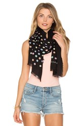 Marc Jacobs Pastel Dot Large Scarf Black