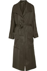 Tom Ford Canvas Trench Coat Army Green