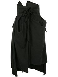 Aganovich Gathered And Draped Skirt Black