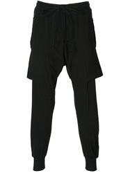 Lost And Found Double Layer Track Pants Black