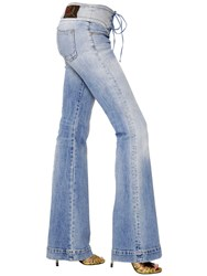 Roberto Cavalli Stretch And Flared Cotton Denim Jeans
