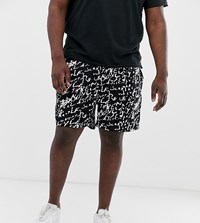 New Look Plus Shorts With Print In Black And White