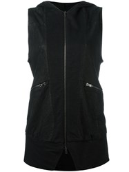 Lost And Found Ria Dunn Sleeveless Perforated Jacket Black