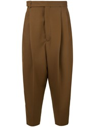 Haider Ackermann Tailored Trousers With Pleats Brown