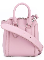 Alexander Mcqueen Mini Heroine Tote Women Calf Leather Leather Suede One Size Pink Purple