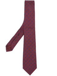 Gucci Circle Pattern Tie Red