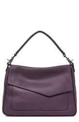 Botkier Cobble Hill Slouch Calfskin Leather Hobo Purple Winter Purple