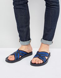 Paul Smith Pin Cross Over Sandals Blue
