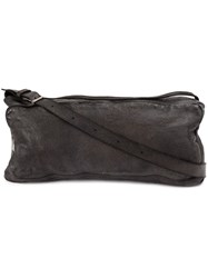 Numero 10 Textured Shoulder Bag Leather Black