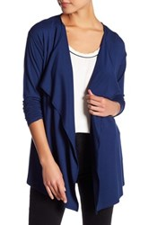Vince Camuto Open Front Cardigan Petite Blue