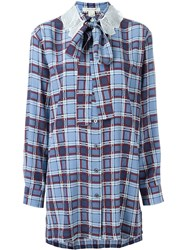 Marc Jacobs 'Oversized Plaid' Checked Shirt Blue