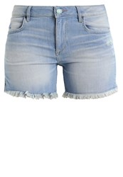 H.I.S Monroe Denim Shorts Premium Ultra Light Blue Wash Light Blue Denim