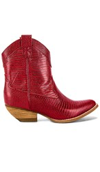 Jeffrey Campbell Calvera Bootie In Red. Red Lizard