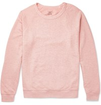 Save Khaki United Melange Loopback Cotton Jersey Sweatshirt Pink
