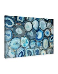 Marmont Hill Blue Geode Bunch Painting Print On Wrapped Canvas