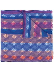 Missoni Stola Righe Scarf Pink And Purple