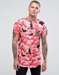 Hype T Shirt With Floral Print Pink