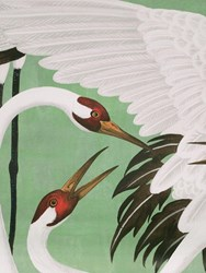 Gucci Heron Printed Wallpaper Panels Green