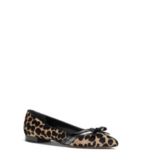 Michael Kors Joey Calf Hair Pointed Toe Flat Fawn Cheetah