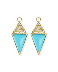 Jude Frances 18K Lisse Triangular Turquoise Earring Charms