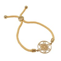 Hoochie Mama Daffodil Medallion Friendship Bracelet Gold