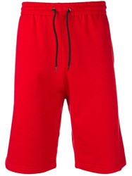 Msgm Jersey Shorts Red