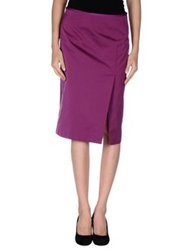 Boss Black Knee Length Skirts Mauve