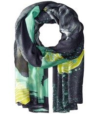 Liebeskind F1179530 Modal Scarf Flashing Yellow Lion Scarves Gray
