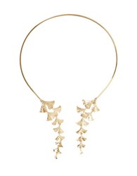 Bcbgmaxazria Ginkgo Collar Necklace Gold