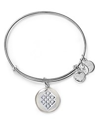 Alex And Ani Art Infusion Endless Knot Expandable Wire Bangle Silver